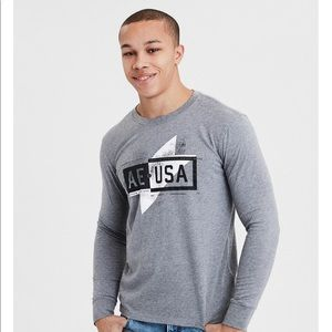American Eagle Outfitters Shirts - **** SOLD **** AE LONG SLEEVE GRAPHIC TEE
